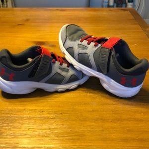 Boys size 2 Under Armour shoes